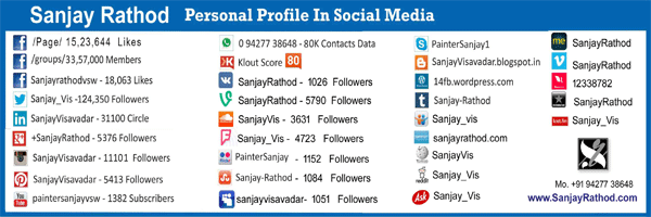 social media links and numbers